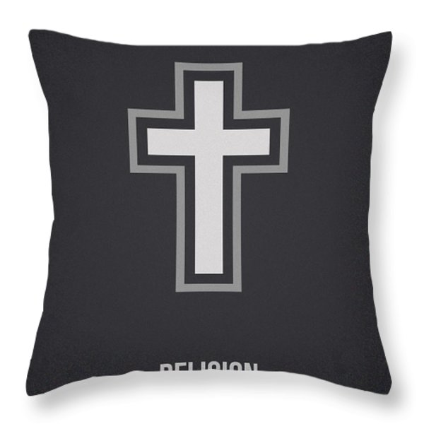 Religion Throw Pillow by Aged Pixel
