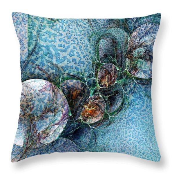 Remains of a Mosaic Throw Pillow by Amanda Moore