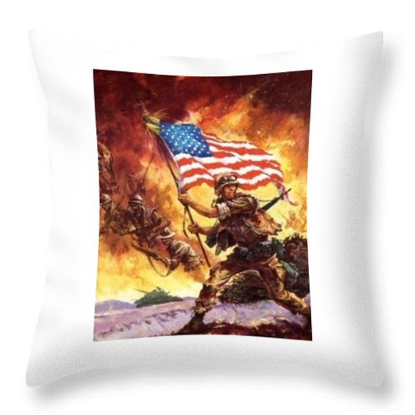Remember Our Veterans Throw Pillow by M and L Creations