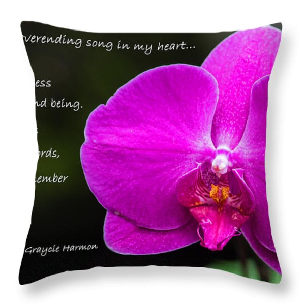 Remember The Tune - Mother's Day Throw Pillow by Jordan Blackstone