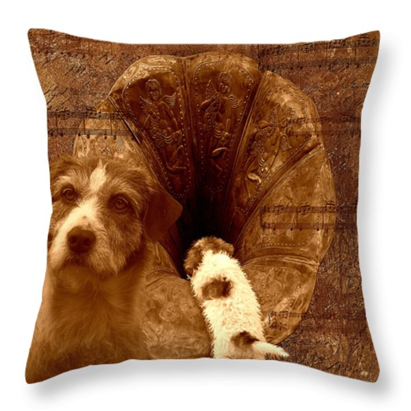 Remembering His Masters Voice Throw Pillow by Veronica Ventress