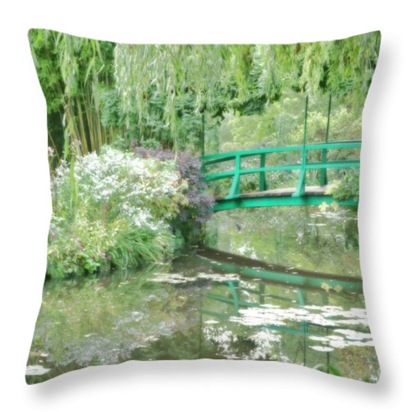 Remembering Monet  Throw Pillow by Olivier Le Queinec