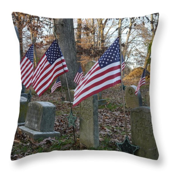 Remembering The Heroes Of Old Throw Pillow by Richard Reeve