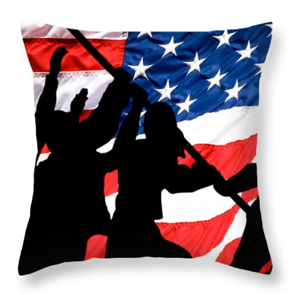 Remembering World War II Throw Pillow by Bob Orsillo