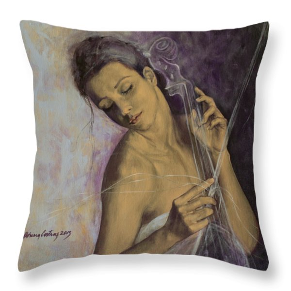 Remembrance Throw Pillow by Dorina  Costras