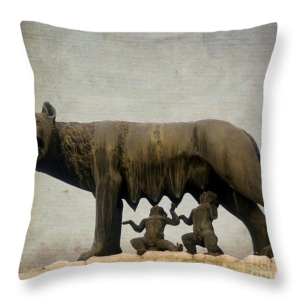 Remus and romulus Throw Pillow by BERNARD JAUBERT