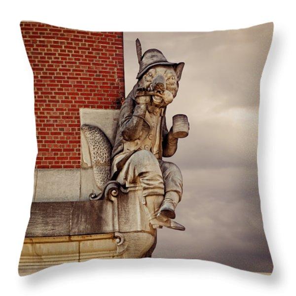 Renard the Fox Throw Pillow by Steven  Michael