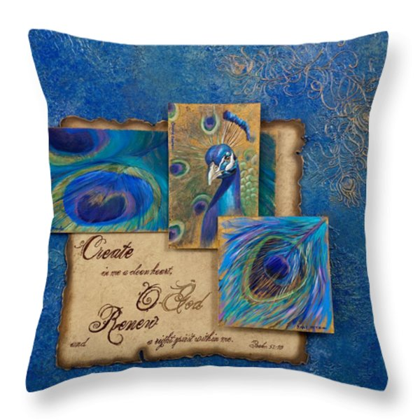 RENEWAL Throw Pillow by Chris Brandley  Charice Cooper   Jane Metz