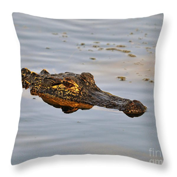 Reptile Reflection Throw Pillow by Al Powell Photography USA
