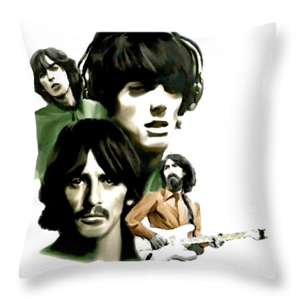 Requiem George Harrison Throw Pillow by Iconic Images Art Gallery David Pucciarelli