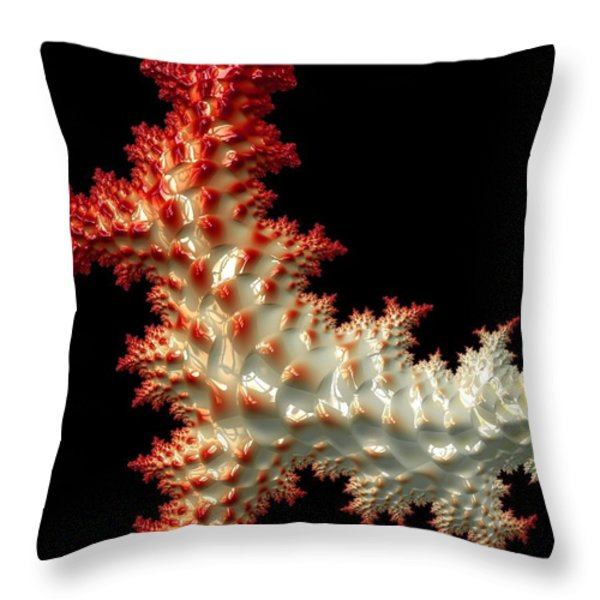 Resembling Coral  Throw Pillow by Heidi Smith