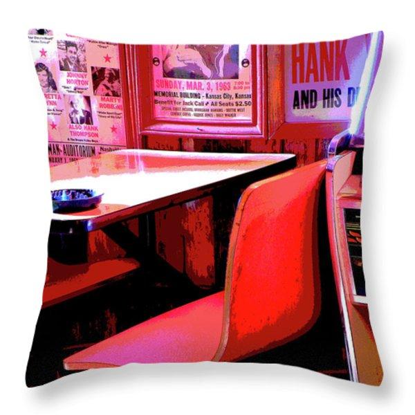 RESERVED SEATING Throw Pillow by Joe Jake Pratt