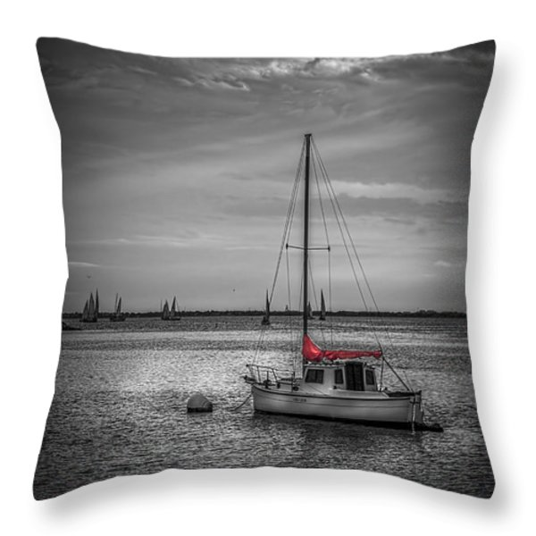 Rest Day B/w Throw Pillow by Marvin Spates