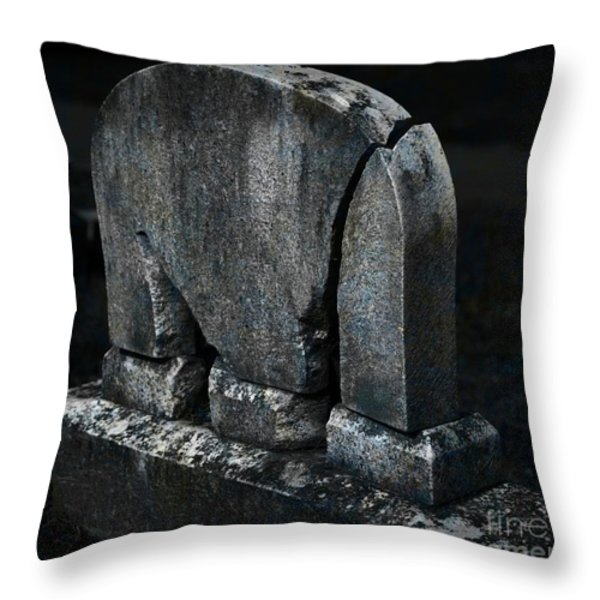 Rest In Pieces Throw Pillow by John Stephens