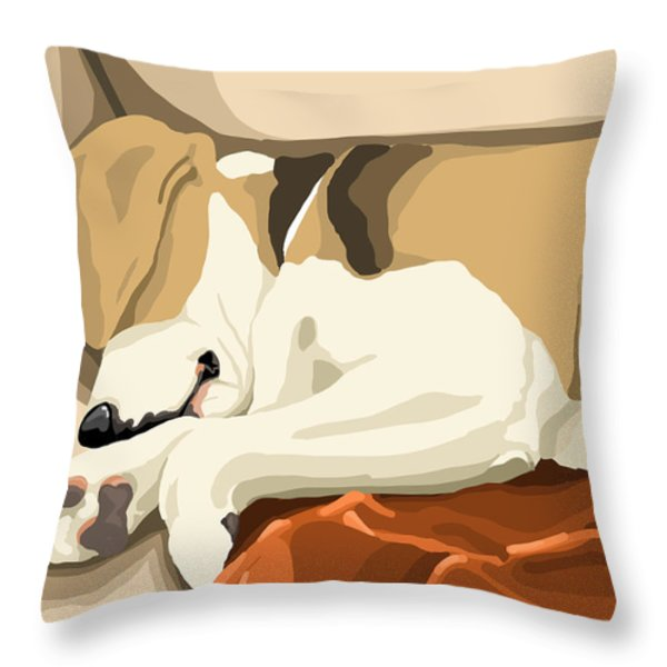 Rest Throw Pillow by Veronica Minozzi