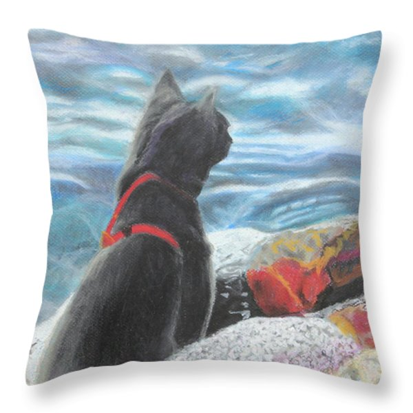 Resting By The Shore Throw Pillow by Jeanne Fischer
