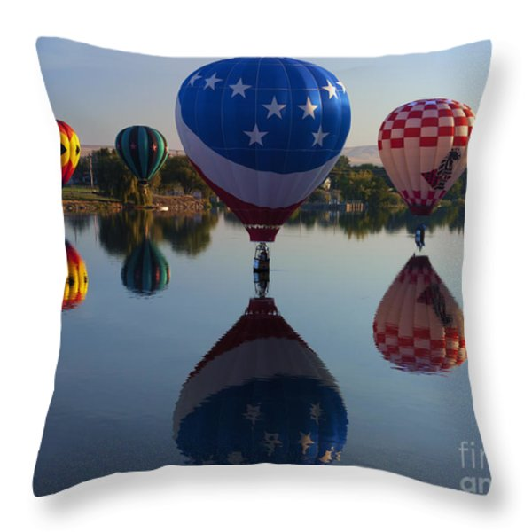 Resting on the Water Throw Pillow by Mike  Dawson