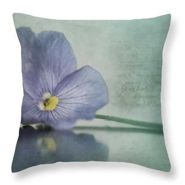 Resting Throw Pillow by Priska Wettstein