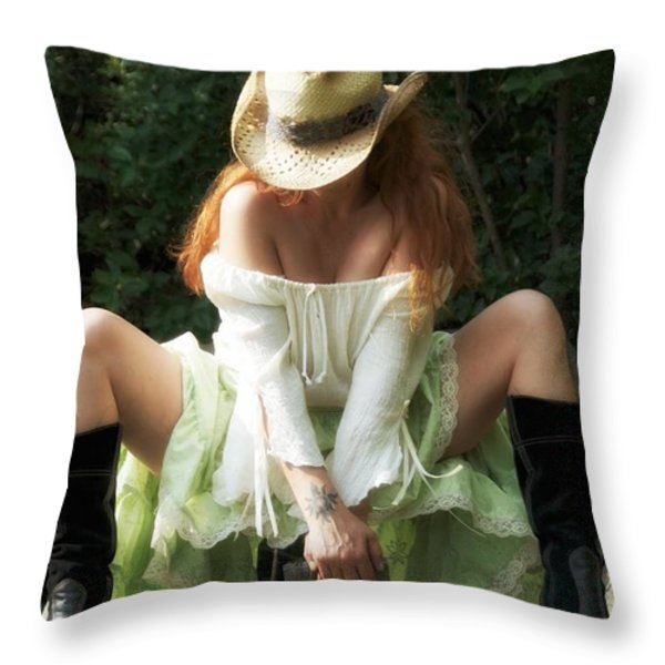Resting Throw Pillow by Todd and candice Dailey