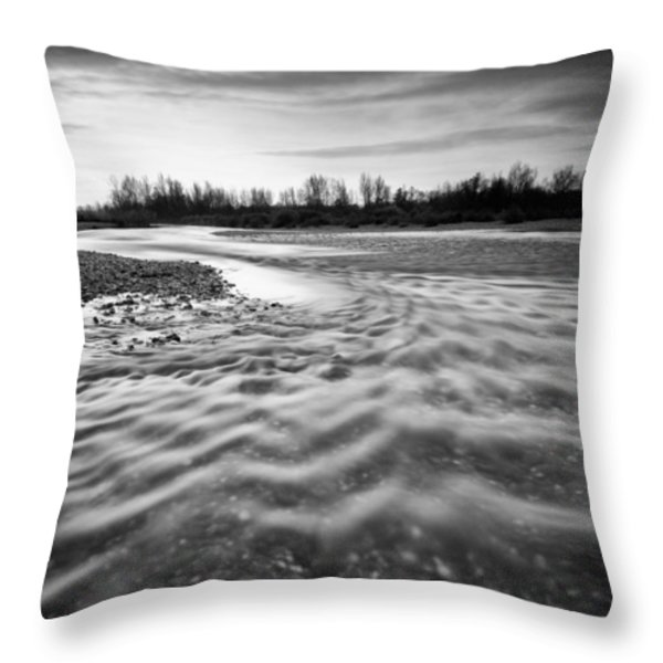 Restless river III Throw Pillow by Davorin Mance