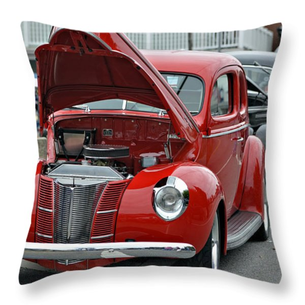 Restored Classic Cars Throw Pillow by Susan Leggett
