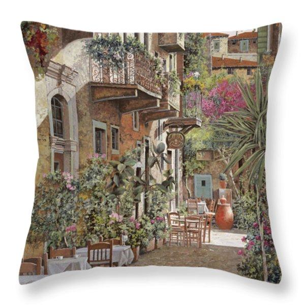 Rethimnon-crete-greece Throw Pillow by Guido Borelli