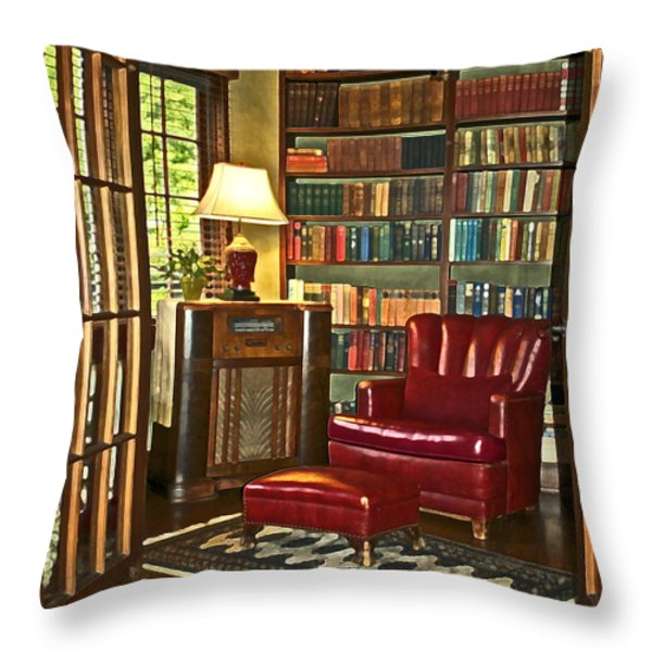 Retreat Throw Pillow by Gwyn Newcombe