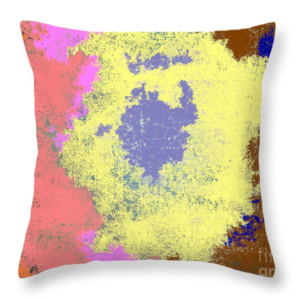 Retro Tie Dye Throw Pillow by Joseph Baril