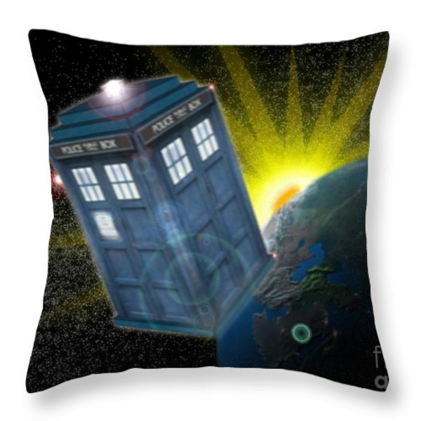 Return Of The Time Lord. Throw Pillow by Ian Garrett