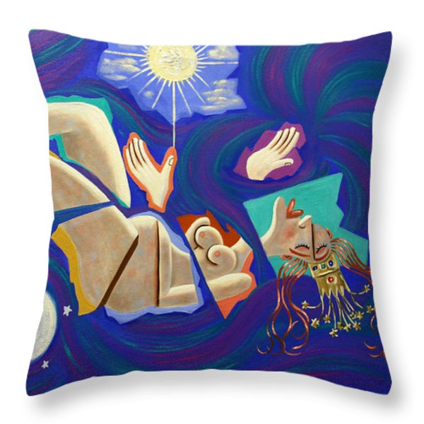 Revelation Chapter 12-1 Throw Pillow by Anthony Falbo