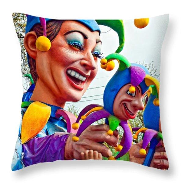 Rex Mardi Gras Parade Xi Throw Pillow by Steve Harrington