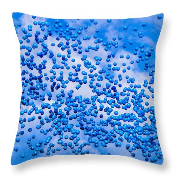 Rhapsody In Blue - Featured 3 Throw Pillow by Alexander Senin