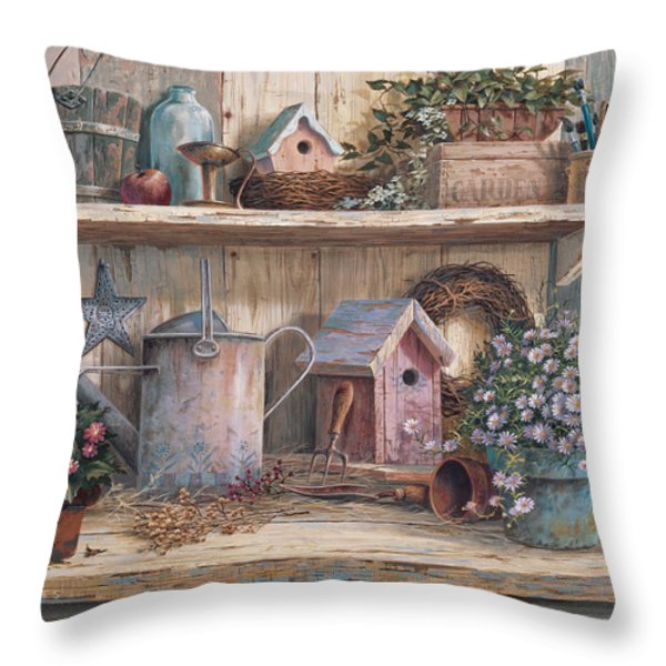 Rhapsody In Rose Throw Pillow by Michael Humphries