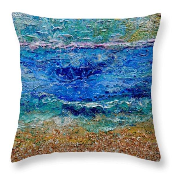 Rhapsody On The Sea Throw Pillow by Regina Valluzzi