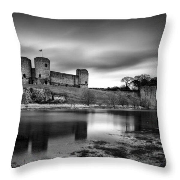 Rhuddlan Castle Throw Pillow by Dave Bowman