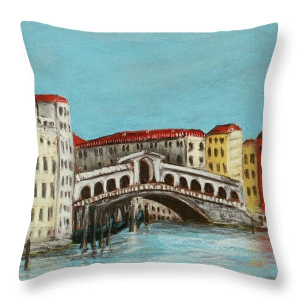 Rialto Bridge Throw Pillow by Anastasiya Malakhova