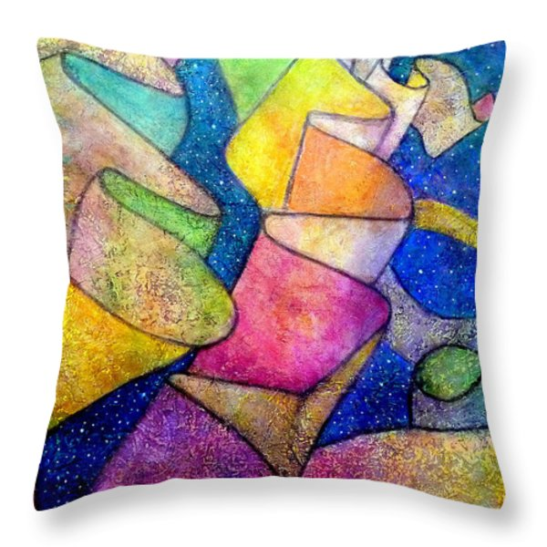 Ribbon In The Sky Throw Pillow by Jim Whalen