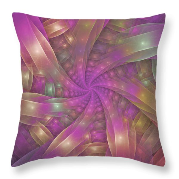 Ribbons Throw Pillow by Sandy Keeton