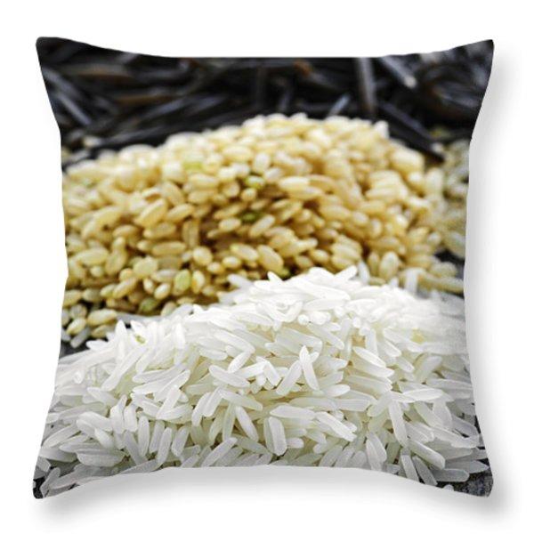Rice Throw Pillow by Elena Elisseeva