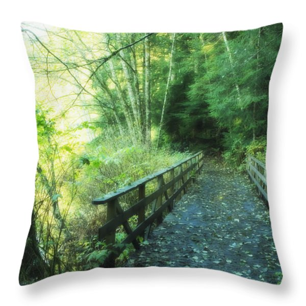 Rice Lake In North Vancouver Throw Pillow by Marlene Ford