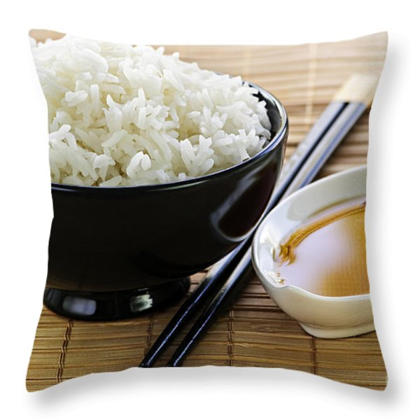 Rice meal Throw Pillow by Elena Elisseeva