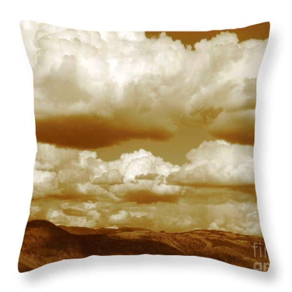 Rich Moment Throw Pillow by Kathy Bassett