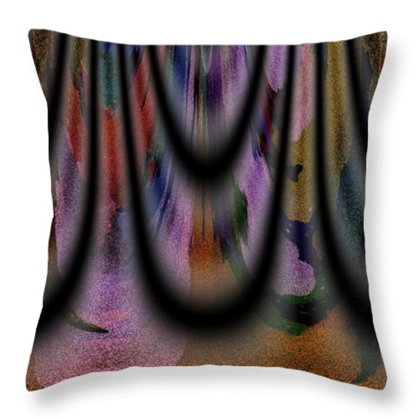 Richeness Of Curtains Throw Pillow by Georgeta Blanaru