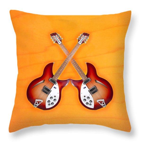 rickenbacker 12-S guitar Throw Pillow by Doron Mafdoos