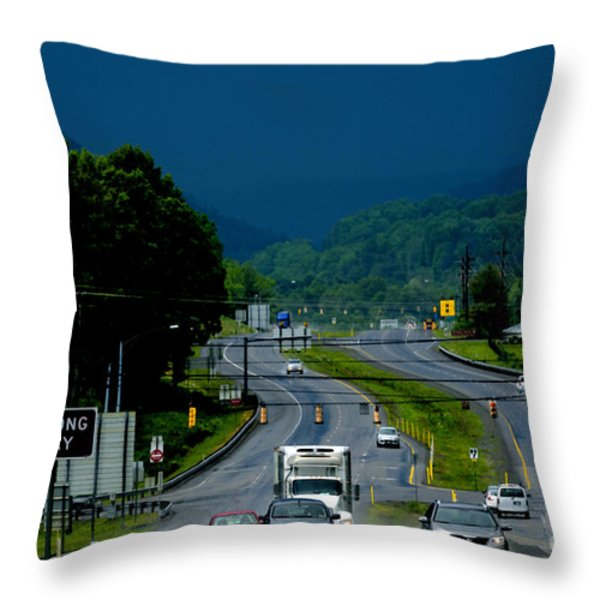 Riders On The Storm  Throw Pillow by Thomas R Fletcher