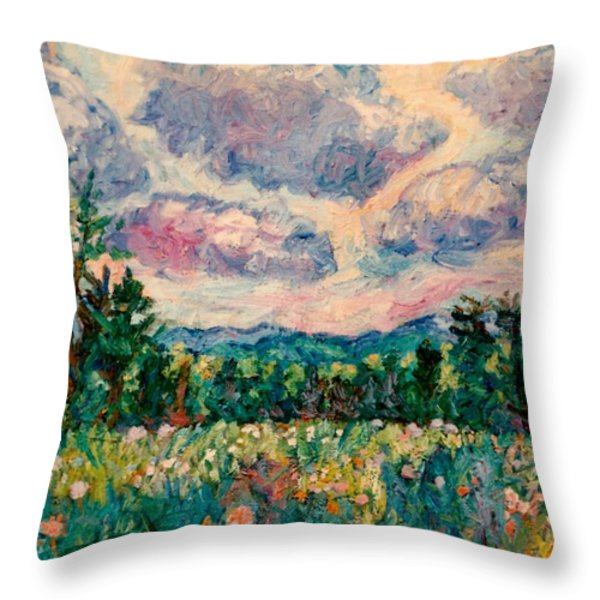Ridge Light Throw Pillow by Kendall Kessler