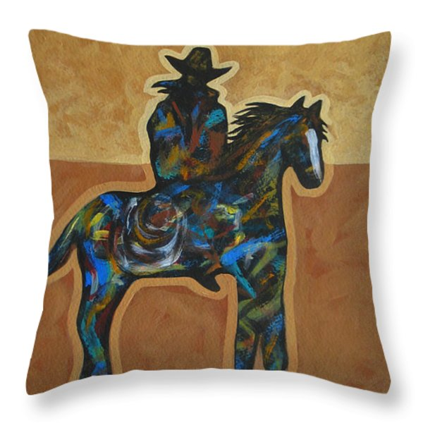 Riding Solo Throw Pillow by Lance Headlee