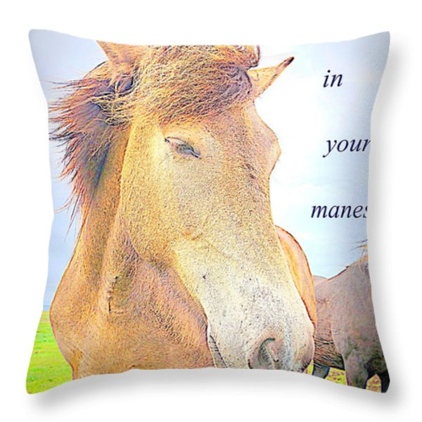 riding the whirlwind Throw Pillow by Hilde Widerberg