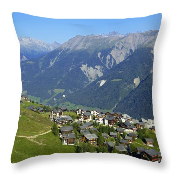 Riederalp Valais Swiss Alps Switzerland Throw Pillow by Matthias Hauser