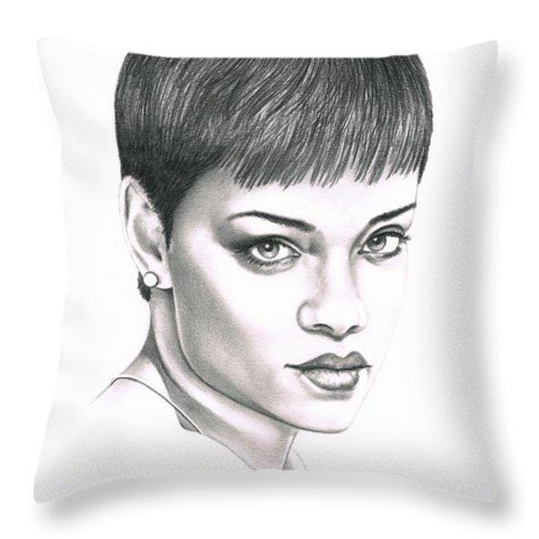 Rihanna Throw Pillow by Murphy Elliott